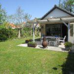De tuin van het huis