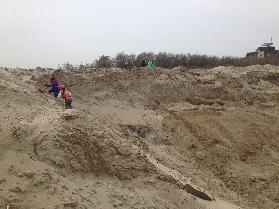 zoeken in opgespoten en omgewoeld zand en klei