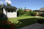 tuinhuis en tweede terras